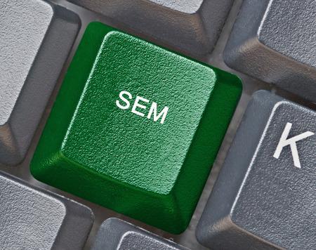 sem: Keyboard with key for SEM