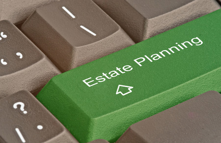 estate planning: Keyboard with hot key for estate planning