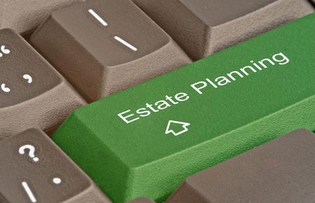 impuestos: Teclado con teclas de acceso rápido para la planificación del patrimonio