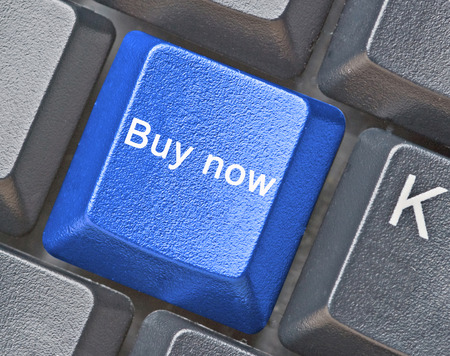 Keyboard with hot key for buy now photo