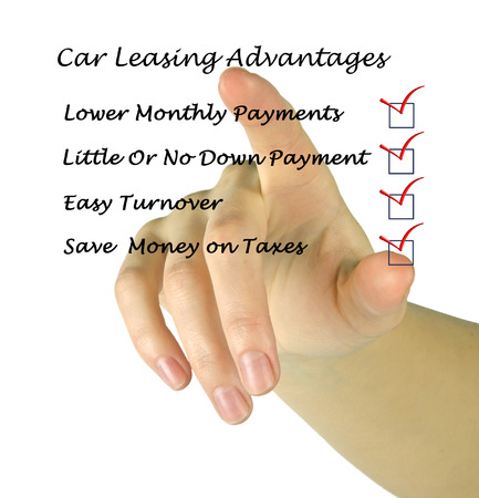 lessee: Car leasing advantages checklist Stock Photo