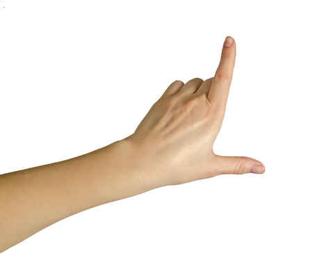 hand pointing up photo