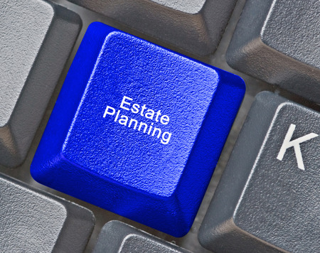 estate: Keyboard with hot key for estate planning
