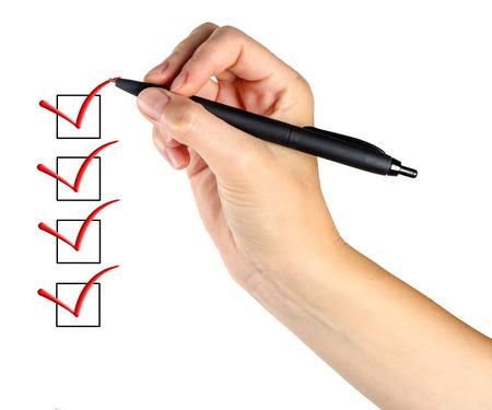 Füllen Checkliste