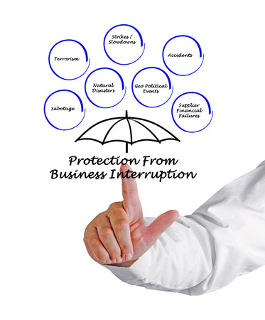 interruption: Protection From Business Interruption Stock Photo