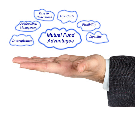 mutual fund: Mutual Fund Advantages Stock Photo