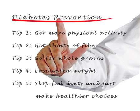 prevention: Diabetes prevention Stock Photo