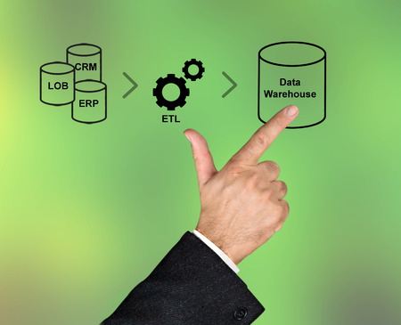 information extraction: Data processing Stock Photo