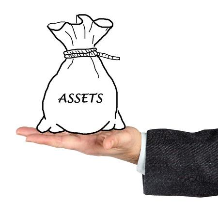 tangible asset: Bag with asset