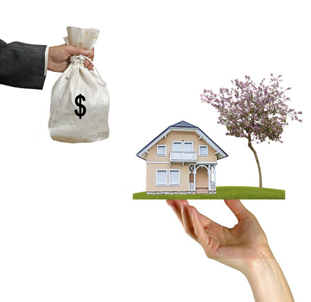 dweling: Selling of house Stock Photo