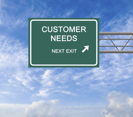 need direction: Road sign to customer need