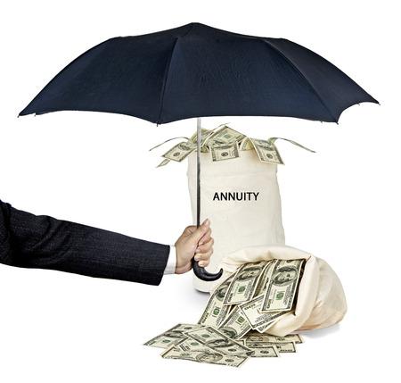 Tasche mit Rente