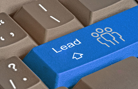 outbound: Keyboard with key for lead generation Stock Photo