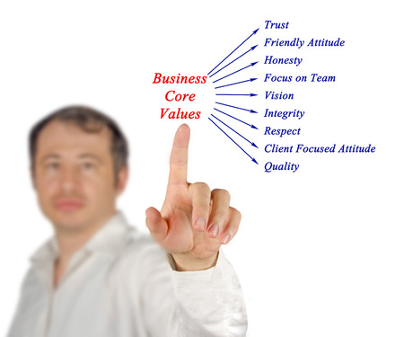 common goals: Business core values Stock Photo