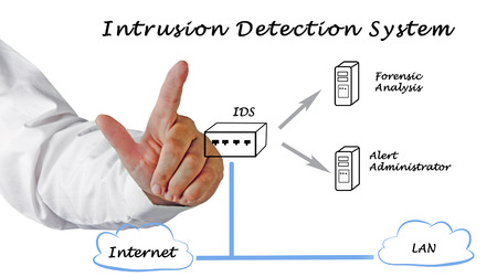 intrusion: diagram of Intrusion Detection System