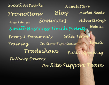 onsite: Small Business Touch Points Stock Photo