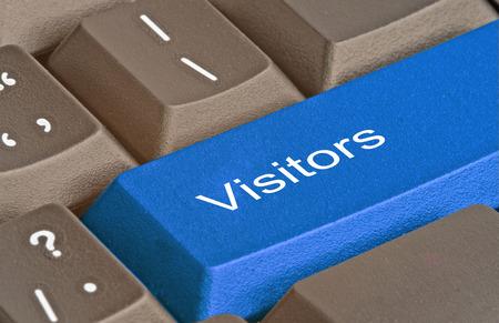訪問者のためのキーを持つキーボード