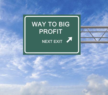 maximization: Road sign to big profit