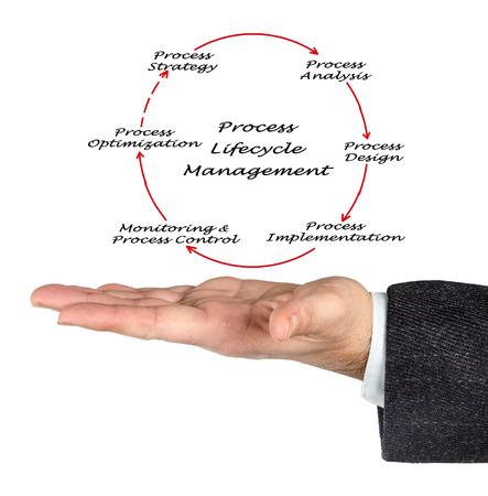 ciclo de vida: Lifecycle Management Proceso Foto de archivo