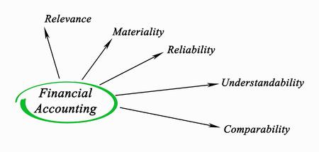 Diagram of financial accounting Reklamní fotografie