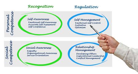 selfcontrol: Diagram of Emotional Intelligence Stock Photo