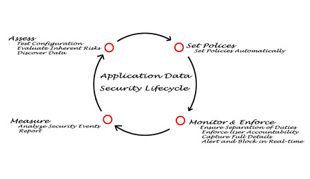 realtime: Application Data Security Lifecycle Stock Photo