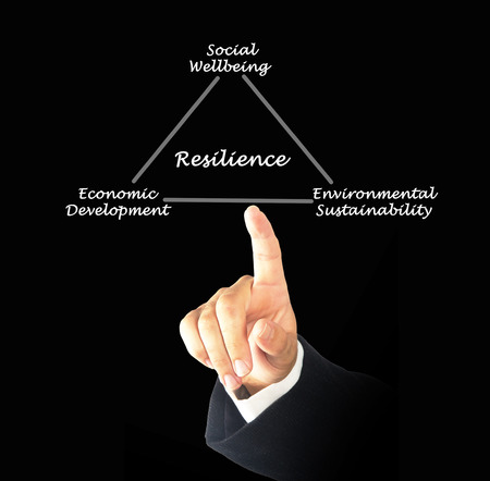 resilience: Diagram of resilience Stock Photo