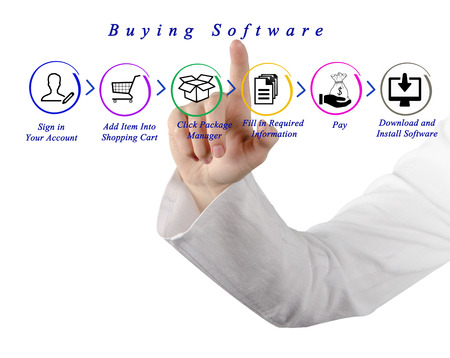 business software: Buying software over internet
