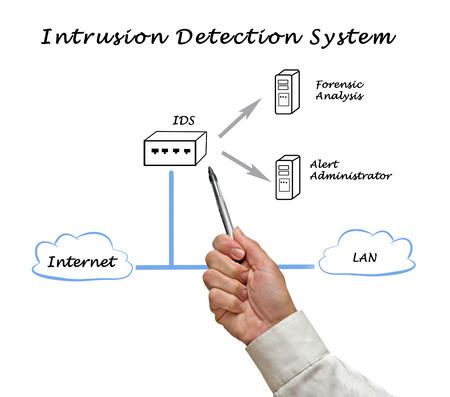 d�tection: sch�ma d'Intrusion Detection System Banque d'images