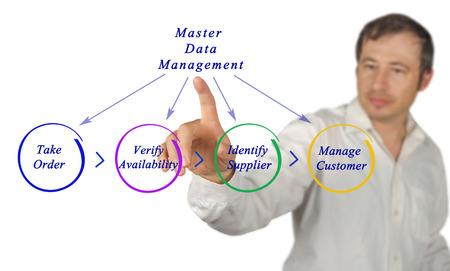 data management: Diagram of Master Data Management Stock Photo