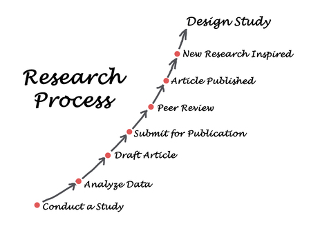 book reviews: Standard Model of the Research Process Stock Photo