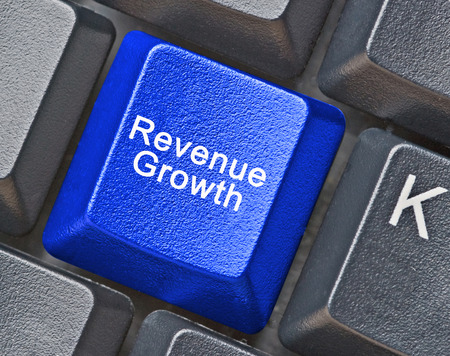 revenue: Keyboard for revenue growth Stock Photo
