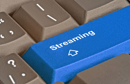streaming: Hot key for streaming Stock Photo