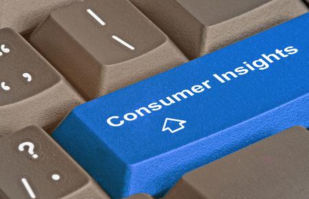 消費者の洞察力のためのキー 写真素材