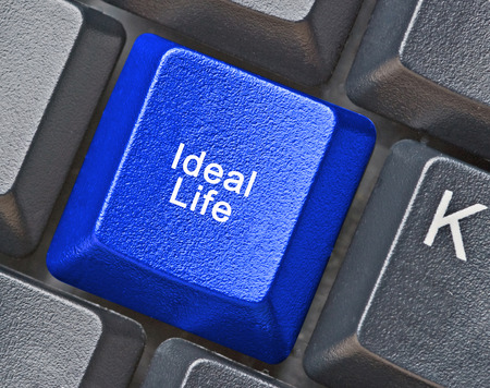 ideal: Key for ideal life Stock Photo
