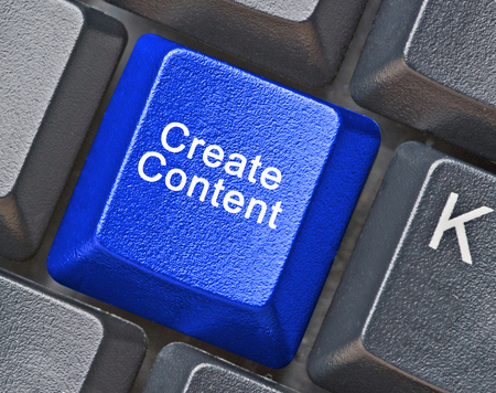 Key for creation of content Stock fotó