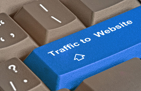 keywords link: Key for traffic to website Stock Photo