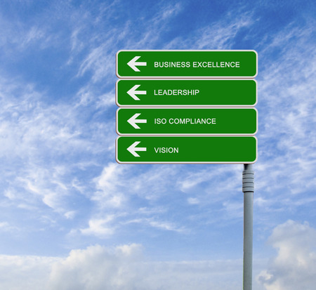 Diagram of business excellence Stock Photo
