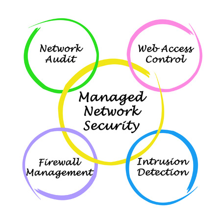 managed: Diagram of Managed Network Security