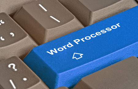 word processors: Keyboard with key for word processor