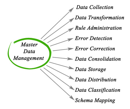 diagram of Master Data Management 版權商用圖片 - 55652439