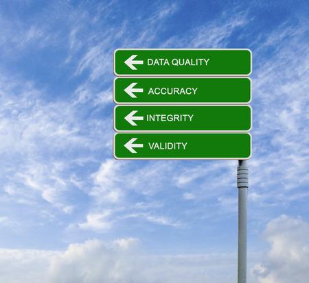 validez: La se�al de tr�fico a la Calidad de los Datos