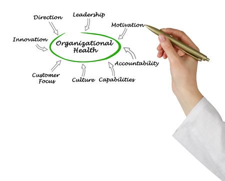 organizational: Diagram of Organizational Health Stock Photo