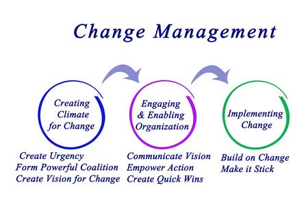 Diagrama de la gestión del cambio