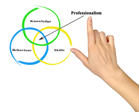 professionalism: Components of Professionalism Stock Photo