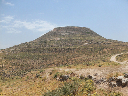 judean hills: Hill of Herodion (place of King Herod burial)