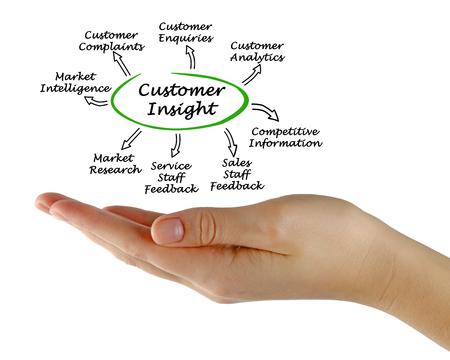 Diagram of Customer Insight Stock Photo