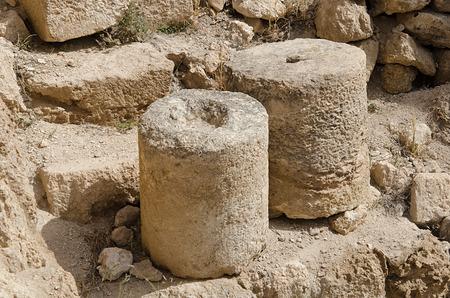 judean hills: Artifacts at Herodion (Israel)