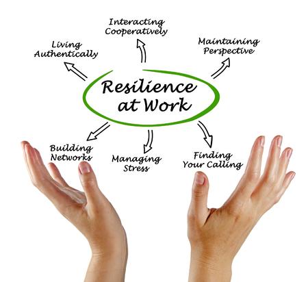 Diagram van Resilience at Work