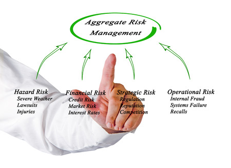 lawsuits: Diagram of Aggregate Risk Management Stock Photo